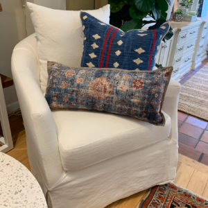Slipcover Swivel Birch Chair