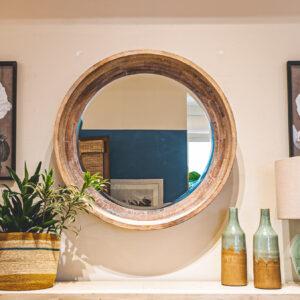 Round Rustic Mirror